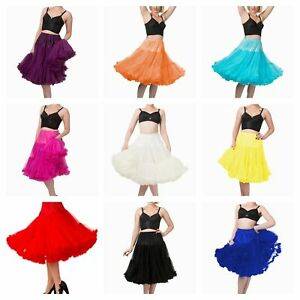 "Banned Petticoats All Sizes & Colours Fluffy 20 22 25 26"" Long Vintage 1950s"
