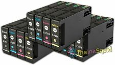 12 T701 non-OEM Ink Cartridges For Epson WorkForce Pro WP-4545DTWF WP-4595DNF