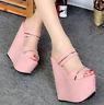 Women's Super High Heel Wedge Heel Platform Summer Slippers Sandals Shoes Mules