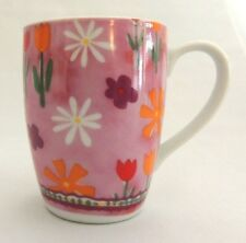 Flowers Coffee Mug Cup Pink Colors Fashion Collection Fine Porcelain Collectible