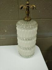 """Mid Century Chandlier Swag Lamp Shade Fitter Hobnail Cylinder 17"""" Long 3.5"""" Open"""