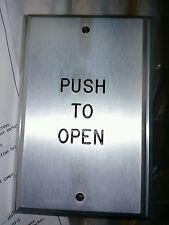"""NEW! DELT-REX 1-gang """"PUSH TO OPEN"""" Push Plate Release SPDT - MOM T106-E3"""