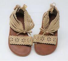 BABY GAP Toddler Girls 7  Beige Zipper Sandals