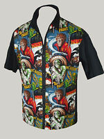 Mens Horror Monster 50s lounge diner s/s shirt Gothic Rockabilly Psychobilly