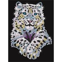 Sequin Art Snow Leopard Brand New Creative Craft Kit 1404