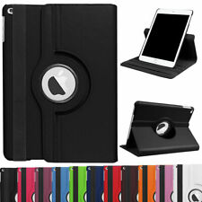For iPad 9.7 6th Gen/5th 2017 360° Rotating Leather Smart Stand Case iPad Cover