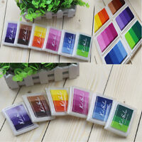 Ink Pad Rubber Stamps DIY Multi Colour Inks Paper Wood Fabric by Color Splurge