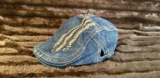 WATER INK IN SHOW CABBIE BLUE JEAN IVY HAT SIZE MED ADJUSTABLE