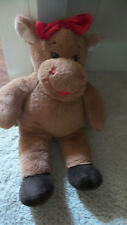 """Build-a-Bear Holly the Moose with Red Bow Plush 16"""" Holiday Christmas"""