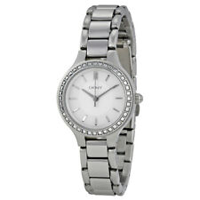 DKNY Chambers White Dial Stainless Steel Ladies Watch NY2220