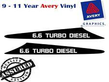 6.6 TURBO DIESEL Decal Sicker For Nissan GU Patrol 99-07 2 FIN Bonnet Scoop
