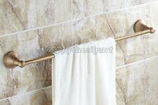 Retro Antique Brass Wall Mount Bathroom Single Bar Towel Rails  yba147