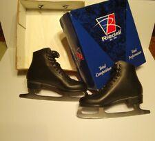 Riedell F 121 Men's Black Leather Figure Skates size 7.5 medium