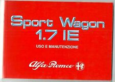 1989 ALFA ROMEO 33 SPORT WAGON 1.7 IE - 1.7 IE 4X4  2° serie uso manutenzione