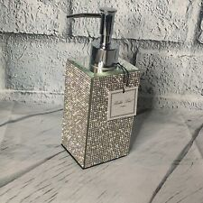BELLA LUX Pump Soap Dispenser FULL Rhinestone Mirror Sparkle Bath Bathroom Lux