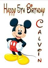Personalised Printed MICKEY MOUSE Birthday Card Any