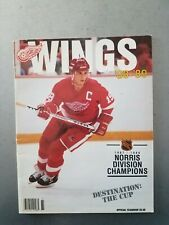 Detroit Red Wings Official Yearbook 1988 89 Hockey NHL Yzerman Stanley cup 1987