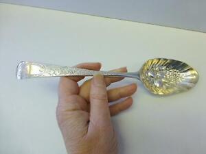 1796 Robert Jones Berry Fruit Sterling Silver Serving Spoon Exeter UK