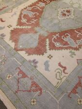 Turkish Oushak Area Rug 7' x10' Wool Hand Made / Knotted New Distressed Look