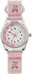 Tikkers Light Pink Ballet Theme Time Teacher Nylon Strap Watch - NTK0013