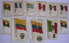 11 Cigarette Silks c1901 Venezuela Ecuador Mexico Bolivia Uruguay Peru Guatemala
