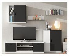 Mueble de salon modular lacado blanco y negro