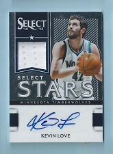 KEVIN LOVE 2012/13 SELECT STARS JERSEY AUTOGRAPH AUTO /199