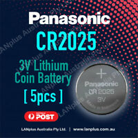 5 x Panasonic CR2025 3V Lithium Battery Button Coin Cell 4 Alarm Car Key DL2025
