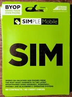 SIMPLE MOBILE 4G LTE SIM CARD UNLIMITED NETWORK BY SIMPLE MOBILE