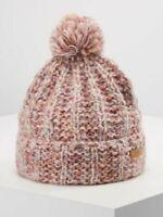 *New* Barts Myla Beanie, Warm and Soft Hat with Pom Pom, Pink, One Size, RRP:£27