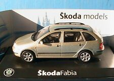 SKODA FABIA 1.4 16V 16 SOUPAPES BREAK BEIGE ABREX 1/43 COMBI KOMBI STATION WAGON