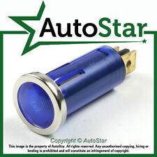 Azul luz de advertencia Bisel Cromado 12v 12 Voltios Dash indicador clásico Kit Car Trike