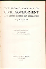 PHILOSOPHY / JOHN LOCKE , 2ND TREATISE CIVIL GOVERNMENT