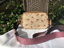 NWT Coach Isla Chain Crossbody in Sinature Jacquard with Cherry Print F30610