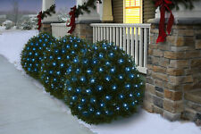 Holiday Time Net Light Set Green Wire Blue Bulb,150 Count NEW!!!