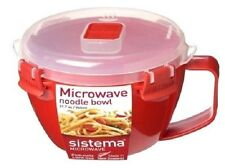 Sistema 940ml Noodle Pasta Stew Soup Bowl Microwavable Lunch Box Cup Take Away