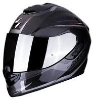 Casco Moto Scorpion Exo 1400 Carbon Air Esprit 2SL Carbonio Argento taglia L