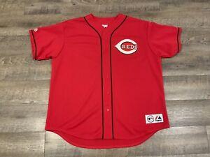 Vintage Cincinnati Reds Majestic Jersey Red Lightweight Mens XXL Genuine MLB USA