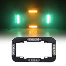 "13.5"" Led License plate lights Emergency Warning Strobe Amber Green for Vehicles"