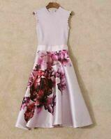 New Ted Baker Kayytee Splendour Ruffle Sleeve Dress Sz 3,4