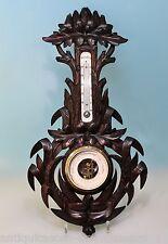 Art Deco Prunk Wetterstation Barometer / Thermometer reichlich geschnitzt -16590