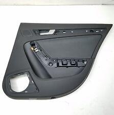 2011 09-16 AUDI S4 A4 B8 INTERIOR REAR RIGHT BLACK LEATHER DOOR PANEL TRIM OEM