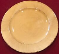 "Pier 1 Earthenware TOSCANA 8 3/4"" Gold Salad Plates Lot of 4 EUC"