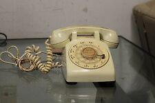 Vintage Bell System Western Electric Classic Rotary Dial Light Yellow Desk Phone