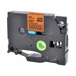 1PK Compatible Brother TZ TZe-B31 Black on Fluo Orange Label Tape Cassette 12mm