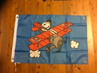snoopy the Red Baron Charlie brown man cave ideas mancave flag banner print gift