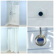 """54"""" x 78"""" Heavyweight Peva Shower Stall Curtain Liner with Microban - 2 Colors!"""