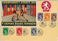 Czechoslovakia - POSTAL HISTORY - SPECIAL COVER: WRESTLING Championship 1947