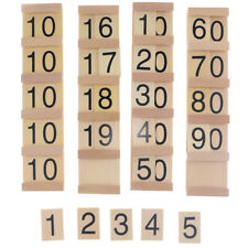 Wooden Hundred Board Montessori Consecutive Numbers Blocks, Kids Children Early