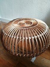 More details for franco albini lobster pot cane/wicker stool. 1960's